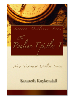 Lesson Outlines From the Pauline Epistles 1